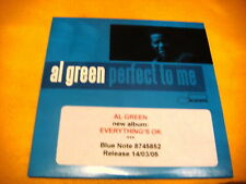 Cardsleeve Single CD AL GREEN Perfect To Me PROMO 3TR 2004 jazz blue note