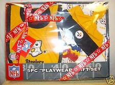 Pittsburgh Steelers NFL 5pc Playwear Gift set 12-18 months