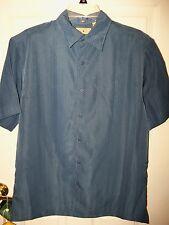 Royal Palm Dark Denim Blue Button Short Sleeve Dress Shirt Mens Size XL NWT