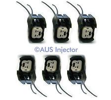 Set of 6 Fuel Injector Pigtails fit Bosch EV6 / EV14 USCAR GM FORD VW [EV6F-6]