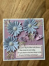 BEAUTIFUL HANDMADE 3D BIRTHDAY CARD TOPPER!
