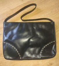 Donna Borsa in vera pelle nero da Freddie oufi Gratuito UK Consegna