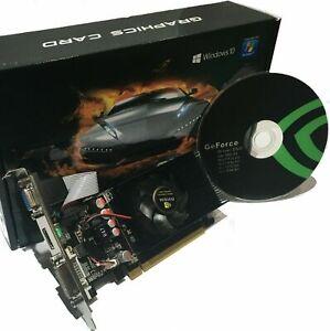 SCHEDA VIDEO GRAFICA GT 730 4GB DDR3 64Bit PCI-EXPRESS HDMI DVI VGA PC GEFORCE