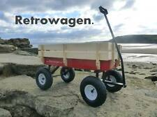 Original Retro wagon Retrowagen pull along cart  -Improved front axle- ride on