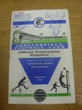 26/08/1967 Chesterfield v Notts County  (Light Crease, Writing/Pen Marks On Cove