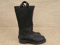 Lacrosse Footwear Black Leather Shoes Men's Size US 5 W Vibram Steel Toe Boots