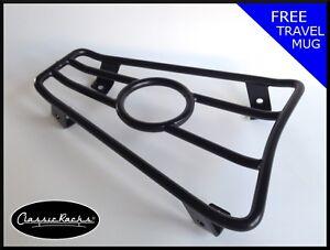Vespa GTS GT GTV  floor board rack CUP HOLDER satin black- CLASSIC RACKS