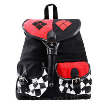 Suicide Squad Harley Quinn Canvas Backpack School Bags Satchel