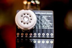 12AX7 / 12AU7 /  ECC83 Socket PCB Breadboard or Circuit Build. Ceramic Socket