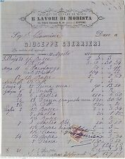 61435 - ITALIA REGNO - STORIA POSTALE : MARCA DA BOLLO su FATTURA - LIVORNO 1881