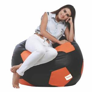 Leather Football Relaxing Bean Bag Cover XXXL for luxuries Room Decor gift