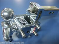 """B&W Chrome Tow & Stow Dual-Ball Hitch Receiver 2"""" 2 5/16"""" TS10033C Adjustable"""
