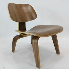 Classic Retro Modern Walnut Moulded Plywood Dining Chair Eames DCW Replica 2Pc