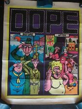Vintage ORIGINAL Fabulous Furry Freak Brothers DOPE Poster