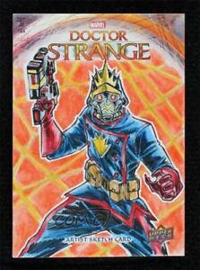 2016 Upper Deck Doctor Strange Sketch Cards 1/1 Erwin Ropa Auto