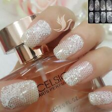 White Lace Nail Art  Wrap Full Cover Sticker Flower Transparent #06112 Free P&