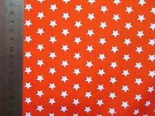 Reststück 2m Baumwollstoff Sterne orange-weiß  Rest Sternchen Stern