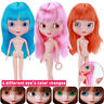 30cm Jointed BJD Dolls for Girl Fashion Blyth Doll Colour Hair DIY Makeup Nude