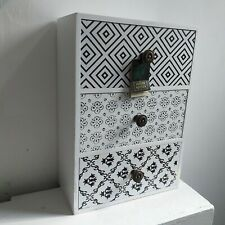 3 Wooden Drawer Storage Jewellery Organizer Dressing Table Storage Drawer gift