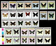Philippines 2007 Insects Butterfly complete series 31 values incl. Bloc mint NH