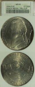 Error: 2004P Peace Medal Nickel Dbl. Clp MS65 ANACS EC4265