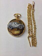 Suzuki Grand Vitara ref245 pewter effect emblem gold quartz pocket watch