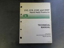 John Deere 21C,21S,21HC, and 45BP Hand Held Products Technical Manual  TM1524