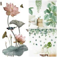 Flor Tropical Hojas Pared Adhesivo Vinilo Calcomanía Guardería Casa Arte de Mural Extraíbles