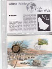 Numisbriefe aus aller Welt - Barbados - und Infokarte