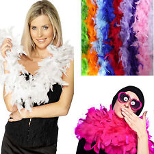 New Various Colours 40g Feathers Boa Strip Fluffy Craft Costume Wedding Decor 2M