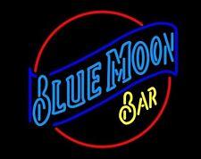 "New Blue Moon Bar Beer Neon Light Sign 17""x14"""