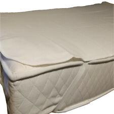 2er Pack Molton Matratzenschoner Matratzenauflage Baumwolle 100x200 cm Weiß