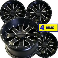 Yamaha GRIZZLY 350 600 Solid Rear Axle ATV RIMs WHEELs 12x7 4/110 Set of FOUR