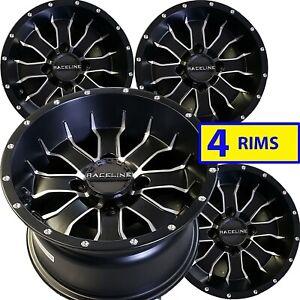 Yamaha KODIAK 400 450 Solid Rear Axle ATV RIMs WHEELs 12x7 4/110 Set of FOUR