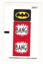 LEGO BATMAN JOKER STEAMROLLER Super Heroes STICKER SHEET for Set 76013 NEW