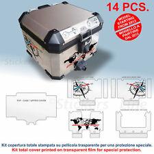 Kit COMPLETO adesivi top case bauletto BMW R1200 GS ADV BUSSOLA PLANISFERO bags