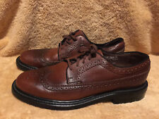 (USED/WORN) SEARS MENS SIZE 7.5 D BROWN LEATHER WING TIP OXFORDS SHOES