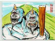 Fantasy Art Sketch Card by Matthew Parmenter /3 - Unstoppable Loaded Pack