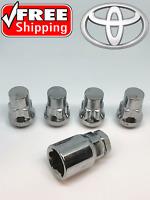 LOCKING LUG NUTS WHEEL LOCKS 12x1.5 CHROME CLOSED BULGE ACORN PONTIAC GM SATURN