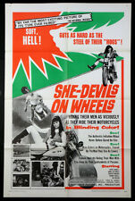 SHE-DEVILS ON WHEELS HERSCHELL GORDON LEWIS FEMALE BIKER GANG 1968 1-SHEET