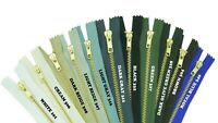 BUY 3 GET 2 FREE Metal Yellow Gold Brass Zip Trousers Jeans Zipper Closed End