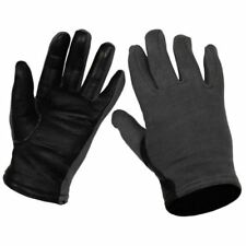 NEW Original Belgium army military Pilot gloves. Black blue army gloves leather