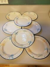 (8) MONTGOMERY WARD--MAYFIELD-- SALAD PLATES -DRAGONFLY--7 1/2""
