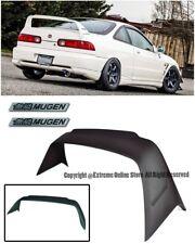 Mugen Gen 1 Style Rear Spoiler Wing W/ Black Emblems For 94-01 Acura Integra DC2