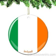Ireland Flag Porcelain Ornament - Irish Christmas Souvenir Travel Gift