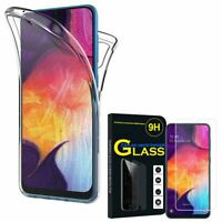 Coque Silicone Gel protection 360° + Verre Trempé Samsung Galaxy A50 SM-A505F