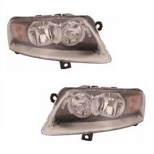 For Audi A6 Mk2 & Allroad 2009-8/2011 Headlight Headlamp Black 1 Pair O/S & N/s