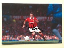 "manchester united bryan robson signed 6"" x 4"" photograph"