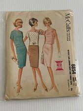 Vintage 6854 McCall's Printed Patterns Sewing Pattern Size:16 Jr. & Misses