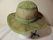 247c87487cb42 MAGELLAN Sportswear Fishing HAT - Green Size Large - Vented Mesh Chin Strap